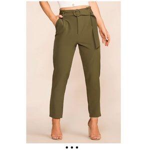 Raegan Olive High Waisted Pants